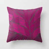 into the wild Throw Pillows featuring Wild by k_c_s