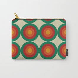 Bequia 16 - Classic Colorful Abstract Minimal Retro 70s Style Graphic Design Carry-All Pouch