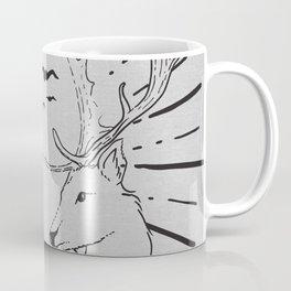 deer twins grey canavs Coffee Mug