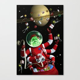 In space no one can hear you jingle Canvas Print