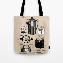 patent China Coffee pot - Blanke - 1909 Tote Bag