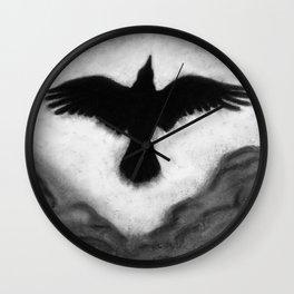 Flight of the Crow Wall Clock