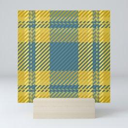 Scottish Yellow and Blue Tartan Plaid Mini Art Print