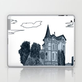 house with a turret and trees Laptop & iPad Skin
