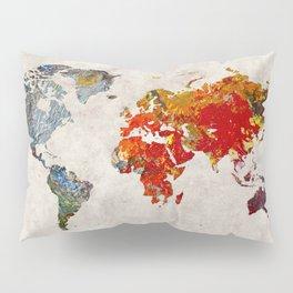 World Map 49 Pillow Sham