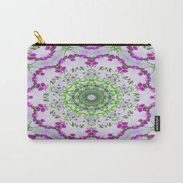 Purple Wildflower Kaleidoscope Art 5 Carry-All Pouch