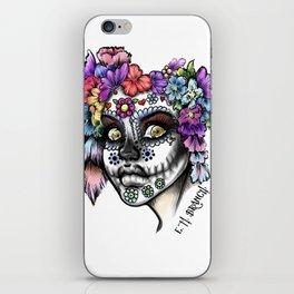 Sugar Skull Girl iPhone Skin