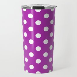 Polka Dots (White & Purple Pattern) Travel Mug