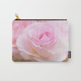 vintage pink rose Carry-All Pouch