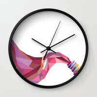 nail polish Wall Clocks featuring nail polish by Grisi Fernandez Minor