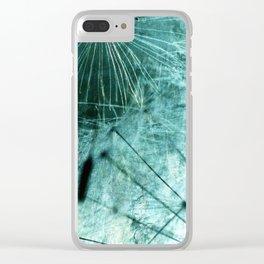 Dandelion Art 8 Clear iPhone Case