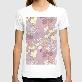 Orchid and palm leaves T-shirt