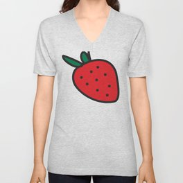 BIG Strawberry Unisex V-Neck