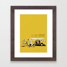 Little Miss Sunshine Framed Art Print