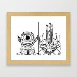 B&W Weirdos 25 Framed Art Print