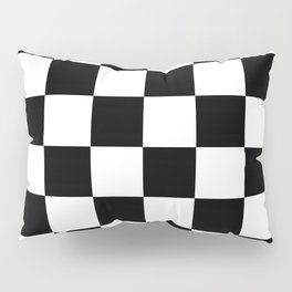 Contemporary Black & White Gingham Pattern Pillow Sham