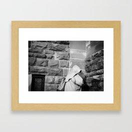 Hooded Figure Framed Art Print