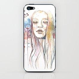Meditation, watercolor  iPhone Skin