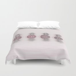 Pink Pineapple In The Water Duvet Cover