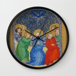 Unknown Artist (Bohemian) - The Pentecost (1413-15) Wall Clock