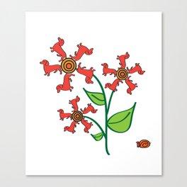 Doxie Flower - Dachshund Dog - Weiner Dog - Weenie Dog Canvas Print
