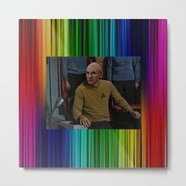 Captain Picard in TOS uniform Metal Print