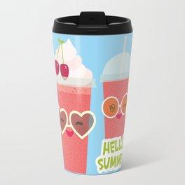 Hello Summer Kawaii cherry smoothie Travel Mug