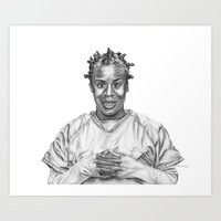 oitnb Art Prints featuring Crazy Eyes from OITNB by nilelivingston