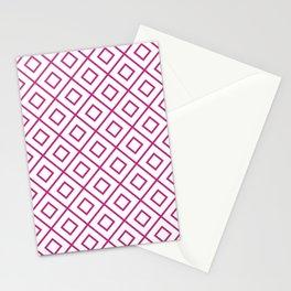 Pink Diamond Pattern 2 Stationery Cards