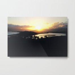 Tropical Sunrise at the Seashore in Madagascar Metal Print