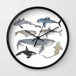 Whales and Sharks Wall Clock