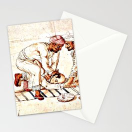 Thugs Strangling Traveller Stationery Cards