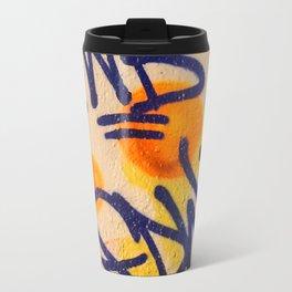 sunset graffitti nyc Metal Travel Mug