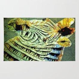 abstract zebra Rug