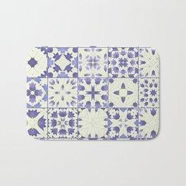 Flower Bell Azulejos Bath Mat