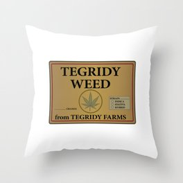 Tegridy Weed From Tegridy Farms Throw Pillow