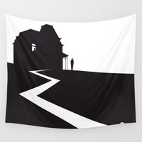 hitchcock Wall Tapestries featuring The Black Collection' Hitchcock Movie by Alain Bossuyt