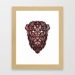 Lion Mask Framed Art Print