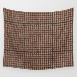 Vintage Brown Houndstooth Tweed  Wall Tapestry