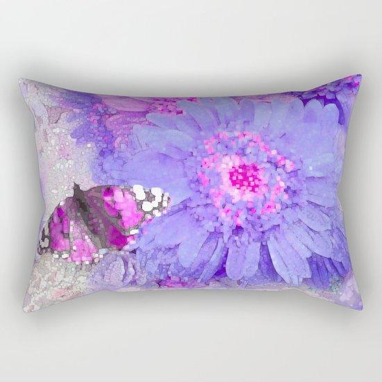 Daisy and Butterfly Rectangular Pillow