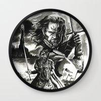 aragorn Wall Clocks featuring Aragorn by Juan Pablo Cortes
