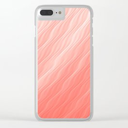Living Coral Wavy Ombre Pattern Clear iPhone Case