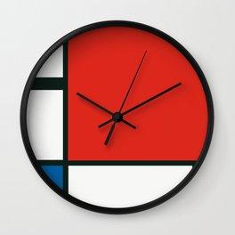 Composition II en rouge, bleu et jaune, Piet Mondrian, 1930 Wall Clock