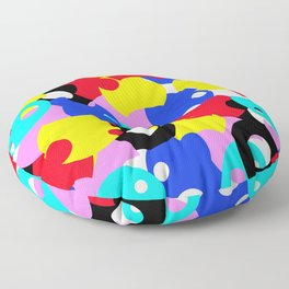 Abstract Color Circles Floor Pillow