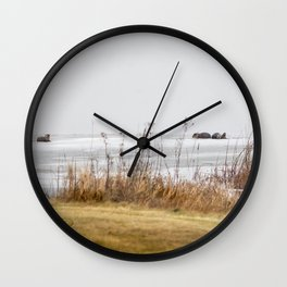 Four Otters Wall Clock
