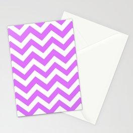 Heliotrope - violet color -  Zigzag Chevron Pattern Stationery Cards