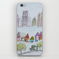 the neighbourhood iPhone & iPod Skins featuring Around The Neighbourhood  by edarcydesign