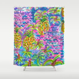 Sea of Pineapples Shower Curtain