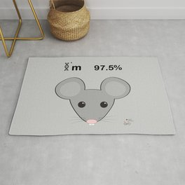 I'm 97.5% mice Rug