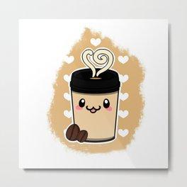 Coffee Cute Metal Print
